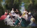 The Empress Eugenie Surrounded by her Ladies by Franz Xaver Winterhalter