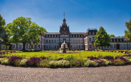 Palace in Hanau, Germany - architecture, garden, Germany, palace, fountain