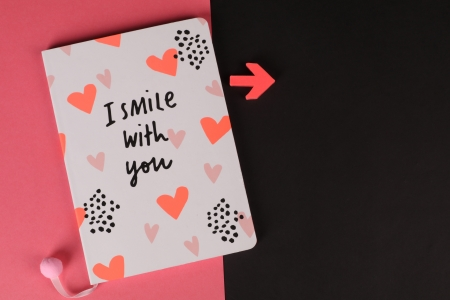 I smile with you - photography, message, black, HD, abstract, card, pretty, red, hearts, 4K