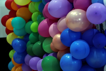 Wall of balloons - abstract, balloons, 4K, colorful, pretty, photography, HD