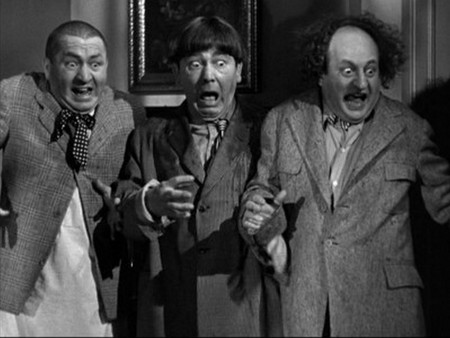 Scared like Stooge - curly, larry, the three stooges, moe