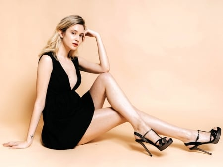 Alexia Fast - beautiful, Alexia, dress, model, black, sexy, heels, Alexia Fast, actress, Fast, wallpaper, 2020