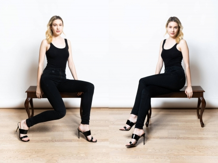 Alexia Fast - Alexia, model, black, pants, beautiful, heels, Alexia Fast, actress, Fast, wallpaper, 2020, hot, top, blend