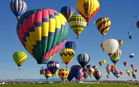 Colorful Hot Air Balloons - colors, hot air, sky, balloons