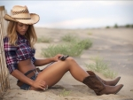 Cowgirl with a Hunting Rifle