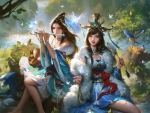 Fantasy girls by Yuanyuan Wang