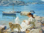 On the shore of the sea by Vladimir Gusev