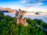 Neuschwanstein Castle above the Fog