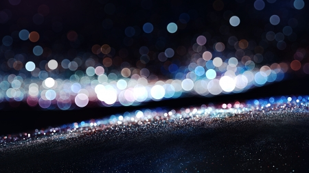 Soft bokeh lights - circles, colors, color, abstract, light, circle, sand, bokeh, depth of field, white, argent, blue