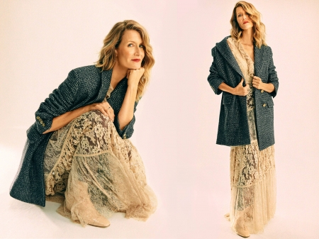 Laura Dern - beautiful, Dern, blend, Laura, Laura Dern, dress, model, actress, jacket, wallpaper, hot, shoes