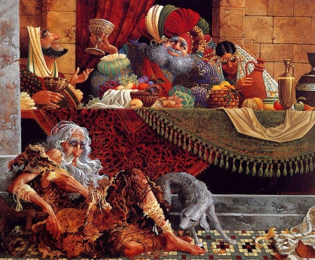 The Banquet - man, james c christensen, peopla, art, painting, pictura