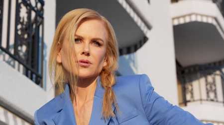 Nicole Kidman - Nicole Kidman, actress, girl, model, blonde, face, woman, blue