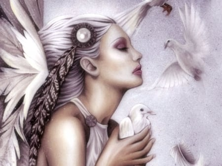 Angel - women are special, etheral women, female trendsetters, photo album, Vintage Angel