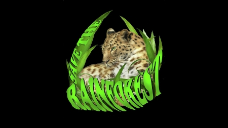 Rain Forest - forest, leopard, big cat, rain forest, Firefox theme