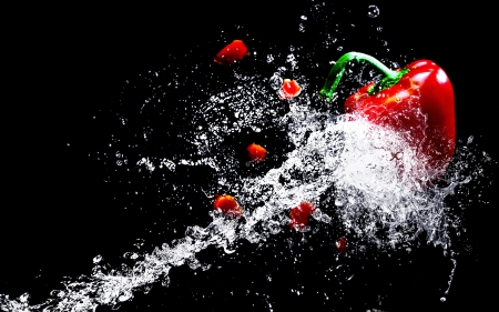 ❤️ - Water, Splash, Vegetable, Pepper