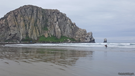 Morro Bay, California - Sand, Reflection, Clouds, Morro, California, Beach, Ocean, Bay