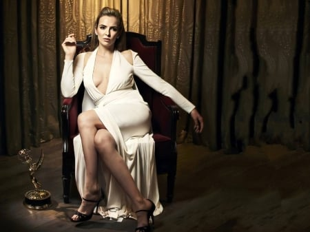 Jodie Comer - Jodie Comer, English, dress, legs, model, gown, beautiful, sexy, Comer, heels, actress, wallpaper, 2020, chair, Jodie, white, award