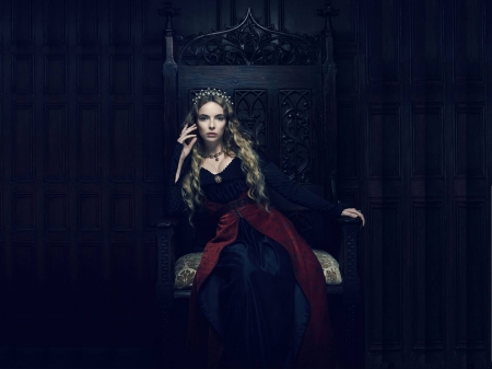 Jodie Comer - Jodie Comer, dress, English, model, gown, beautiful, Comer, hair, royal, actress, throne, wallpaper, dark, hot, crown, Jodie