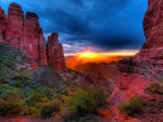 Sunset At Cathedral Rock, Sedona, Arizona