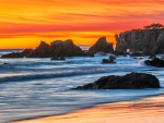 Sunset on El Matador State Beach