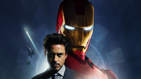For My Pal Tony_Stark - Suit, Cute, Handsome, Robert Downy Jr, Man, Powerful, Glowing eyes, Iron Man, Blue
