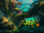 Magical Forest Painting