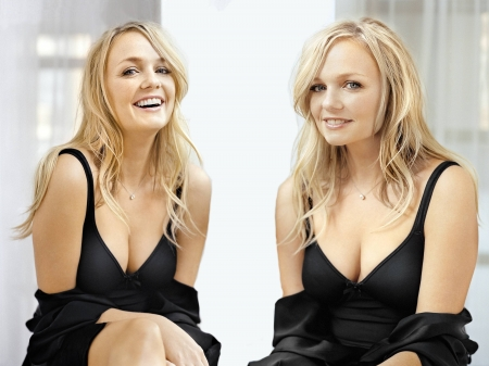 Emma Bunton - dress, model, Bunton, Emma, black, smile, beautiful, sexy, actress, wallpaper, 2020, Emma Bunton, blend