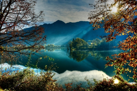 Autumn trees - Mountains, Landscape, Branches, Italy