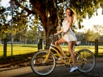 Kyler Quinn on her Bicycle