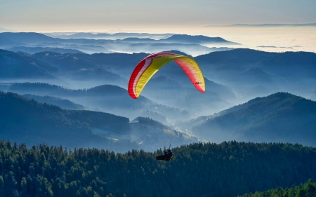 Paragliding over Mountains