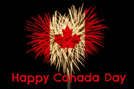 Happy Birthday Canada  - 153 years, birthday, canada, fireworks