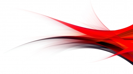 Red Black Flow - black, red, white background, abstract