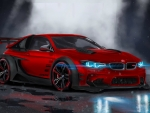 Red BMW M4 Sports Car