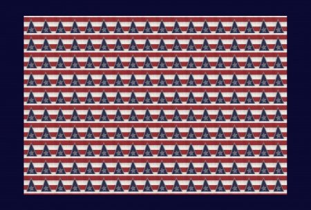 Red, White, Blue with Silver Stars - blue, red, stars, 3212x2170, holiday, redesigned, frame, celebration, triangles, silver, Americana, fabric, white