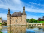 Moated Jehay Castle, Belgium
