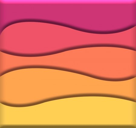 Magenta to Yellow Wave Gradient Beveled - gradient, Magenta, orange, Wavy, Abstract, yellow, Beveled
