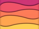 Magenta to Yellow Wave Gradient Beveled
