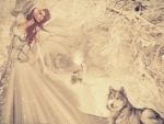 Lady and Her Wolves