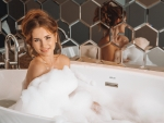 Mary Rock having a Bubble Bath