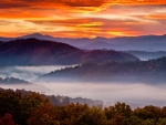 Sunrise on the Smokey Mountains, Tennessee