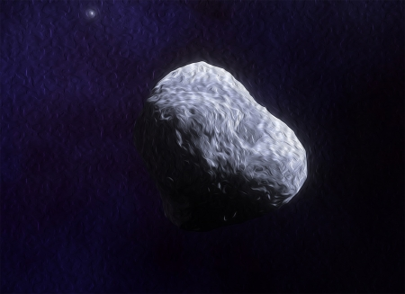 Oil Painted Asteroid - Photoshop, Space Engine, Asteroid, Space