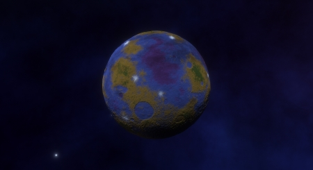Colorful Moon - Moon, Space Engine, Colorful, Space