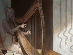 Athanor the harp player