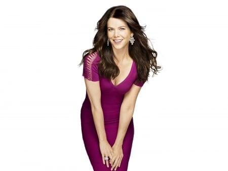 Lauren Graham - beautiful, Lauren, Lauren Graham, dress, model, smile, sexy, actress, wallpaper, Graham, 2020, blue