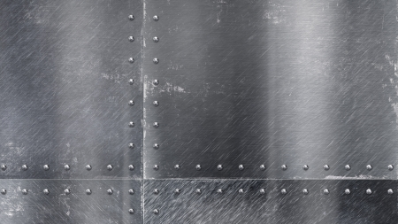 Riveted Metal Plate - closeup, plate, steel, Riveted Metal Plate, gray