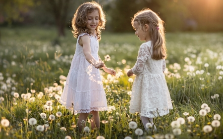 Little Girls and Dandelions