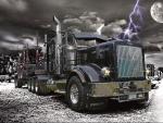Logger on A Stormy Night
