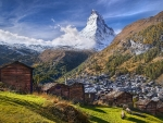Mountain Matterhorn Alps Between Switzerland And Italy