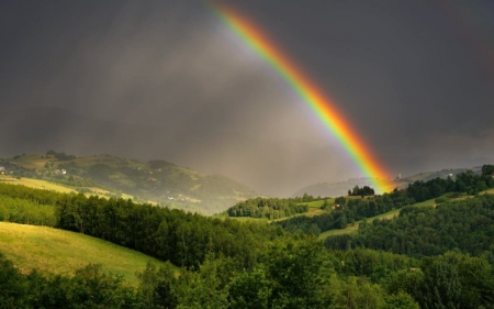 Rainbow over Poland - Poland, nature, rainbow, landscape