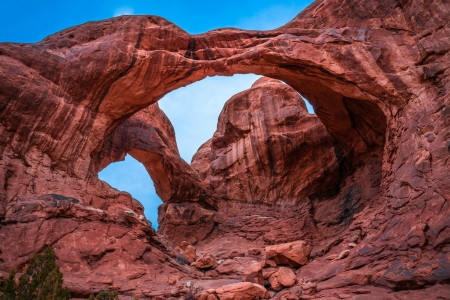Double Arches - arches, park, nature, usa